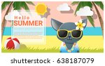 hello summer background with...   Shutterstock .eps vector #638187079