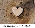 Wooden Heart On An Old Cracked...