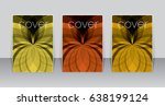 set of abstract backgrounds.... | Shutterstock .eps vector #638199124