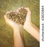 Heart Symbol In Feminine Hand....