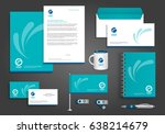 vector abstract stationery... | Shutterstock .eps vector #638214679