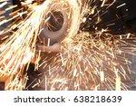 grind sparks | Shutterstock . vector #638218639