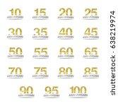 isolated golden glitter numbers ... | Shutterstock .eps vector #638219974