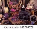 divination rite with the tarot... | Shutterstock . vector #638224879