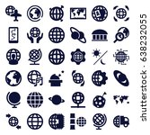 planet icons set. set of 36... | Shutterstock .eps vector #638232055