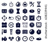 hour icons set. set of 36 hour... | Shutterstock .eps vector #638239441