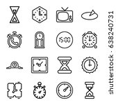 watch icons set. set of 16... | Shutterstock .eps vector #638240731