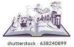 open book illustration fairy... | Shutterstock .eps vector #638240899