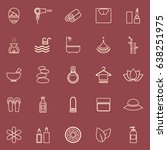 beauty line color icons on red... | Shutterstock .eps vector #638251975