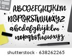 vector alphabet. exclusive... | Shutterstock .eps vector #638262265