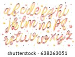 colorful ice cream font... | Shutterstock .eps vector #638263051
