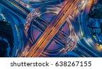 bangkok expressway top view ...   Shutterstock . vector #638267155