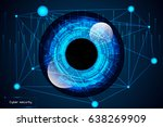 cyber security concept abstract ... | Shutterstock .eps vector #638269909