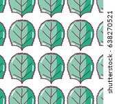 green nice organic leaf plant...   Shutterstock .eps vector #638270521