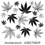cannabis leaf   illustration... | Shutterstock .eps vector #638270839