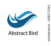 abstract bird flying flight logo | Shutterstock .eps vector #638271361