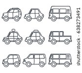 various set of transportation... | Shutterstock .eps vector #638273491