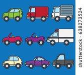 various set of transportation... | Shutterstock .eps vector #638273524