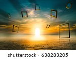gate of life  illuminated door... | Shutterstock . vector #638283205