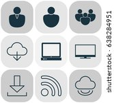 online connection icons set.... | Shutterstock .eps vector #638284951