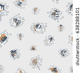 dessert seamless pattern with... | Shutterstock .eps vector #638288101