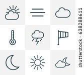 climate outline icons set.... | Shutterstock .eps vector #638288611
