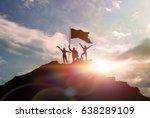 high achievement  silhouettes... | Shutterstock . vector #638289109
