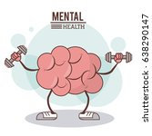 mental health concept. brain... | Shutterstock .eps vector #638290147