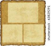 vintage scrapbook old paper... | Shutterstock . vector #63829291