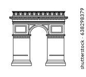 arc de triomphe icon image  | Shutterstock .eps vector #638298379