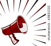 red megaphone announcement over ... | Shutterstock .eps vector #63831232