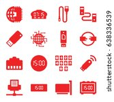 usb icons set. set of 16 usb... | Shutterstock .eps vector #638336539