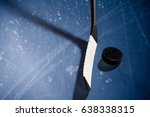 ice hockey rink scratches... | Shutterstock . vector #638338315