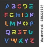 colorful trendy alphabet vector ... | Shutterstock .eps vector #638339839