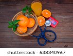 vitamin c from oranges good for ... | Shutterstock . vector #638340967