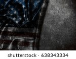 usa flag vintage background | Shutterstock . vector #638343334