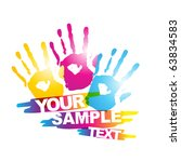 abstract colorful hand vector... | Shutterstock .eps vector #63834583