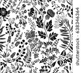 seamless pattern with fantasy... | Shutterstock .eps vector #638346364