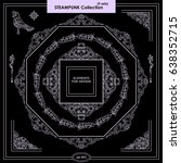 vector set of vintage square... | Shutterstock .eps vector #638352715