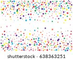 festive colorful star confetti... | Shutterstock .eps vector #638363251