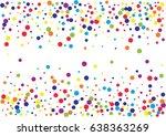 festive colorful hexagon... | Shutterstock .eps vector #638363269