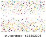 festive colorful star confetti... | Shutterstock .eps vector #638363305