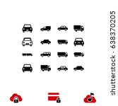 transport icon  stock vector... | Shutterstock .eps vector #638370205