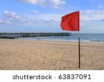 Red Flag At The Beach In Coney...
