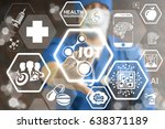 internet of things  iot  health ... | Shutterstock . vector #638371189