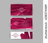 set of vector business card...   Shutterstock .eps vector #638374489