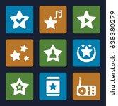 favorite icons set. set of 9... | Shutterstock .eps vector #638380279