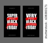 black friday sale inscription... | Shutterstock . vector #638383171