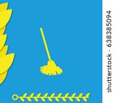 mop icon. floor cleaning object.   Shutterstock .eps vector #638385094