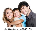 portrait of happy young family... | Shutterstock . vector #63840103